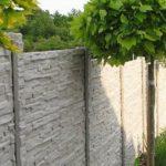 Betonové ploty u rodinných domů